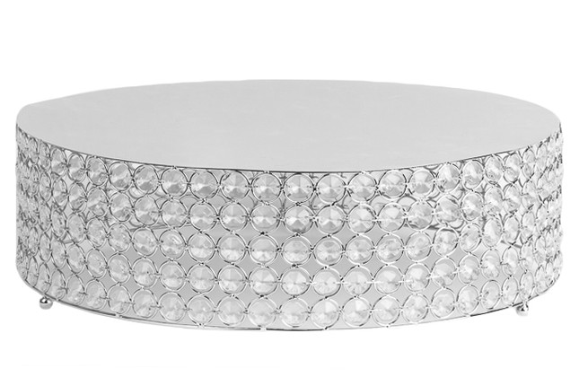 Silver Tiffany Crystal Cake Stand