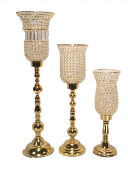 Gold Tulip Candle Holders