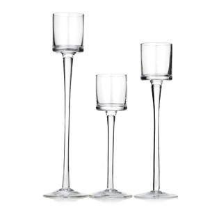 Glass Stemmed Candleholders