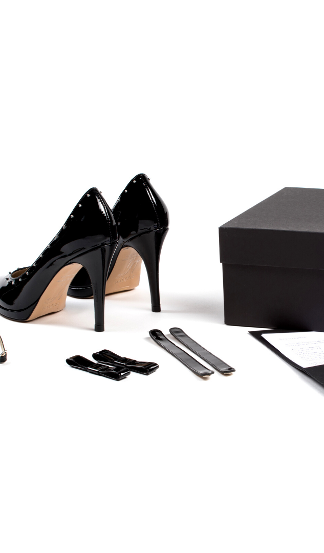 Box Re-Belle Stiletto Verni Noir, 279€