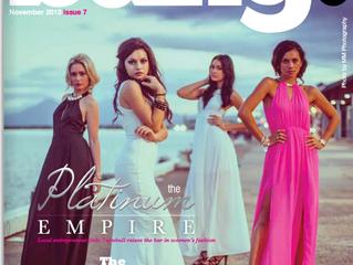 Platinum Models on the front of Bang Magazine