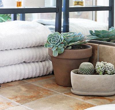 Folded white towels