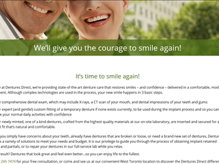 Just launched - Dentures Direct website