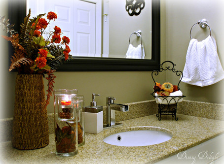 Tips and Tricks for Fall Bathroom Decor