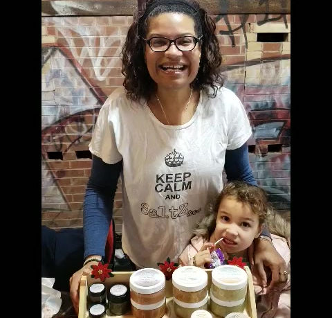 SaltZ&Co selling handmade bath products at Brickworks Winter Village
