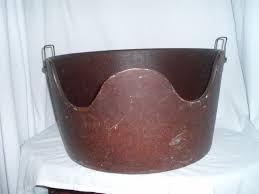 Old fashioned metal sitz bath tub
