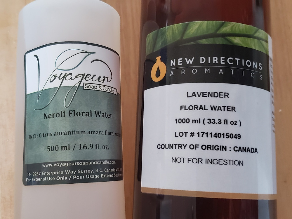 Hydrosols and floral waters