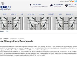 Just Launched - Randals Wrought Iron website