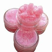 Pink lip scrub