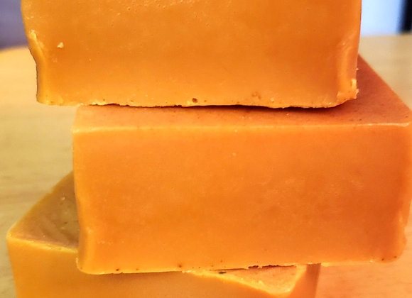 Golden turmeric soap