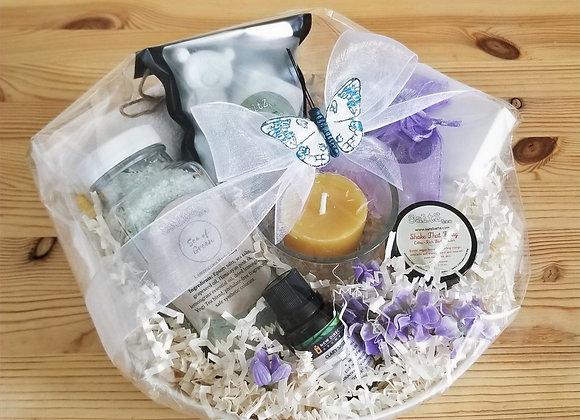 Healing spa gift basket