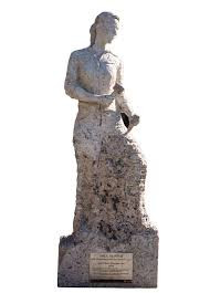 Strong woman statue