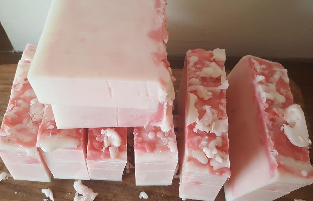 Strawberry Shortcake handmade soap