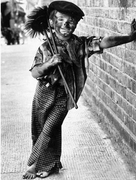 Victorian-era child chimney sweep