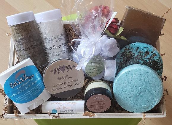 Beautiful spa gift basket