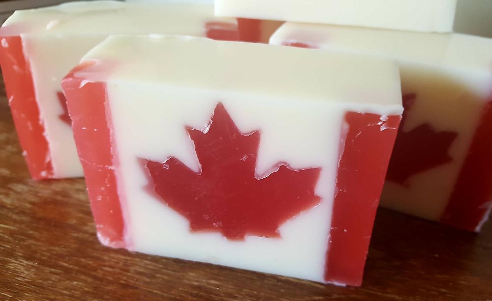Canada Flag maple leaf soap