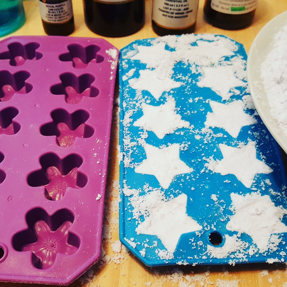 Silicone candy molds for bath bombs