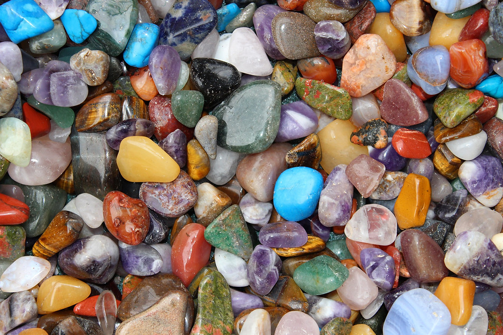 Polished crystal stones