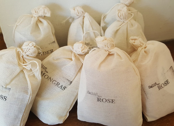 Cloth bags of scented bath salts Toronto