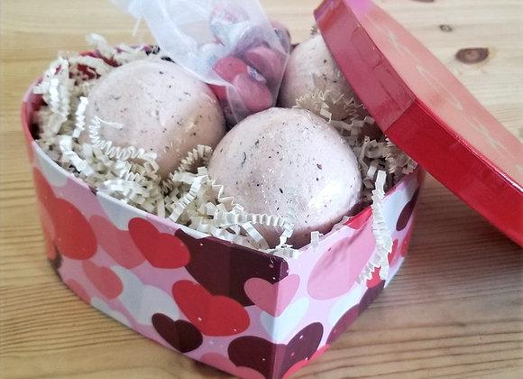 Heart Shaped Box Bath Bombs Gift