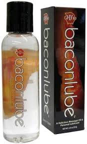 Bacon flavoured lubricant