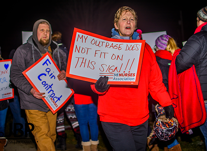 Nurses at MidMichigan Health - Gratiot Lead Informational Picket Calling For A Fair Contract