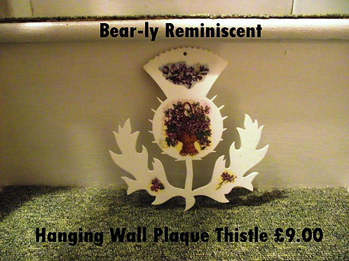 Wooden Thistle Wall Hanging