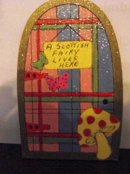 Tartan Fairy Door - for Scottish Fairies