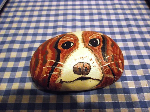 Hand Painted large rock - Cavalier