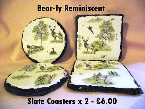 Slate Decoupage Coaster x 2