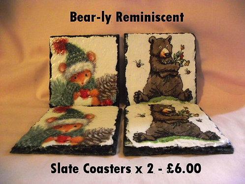 Decoupage Slate Coasters x 2