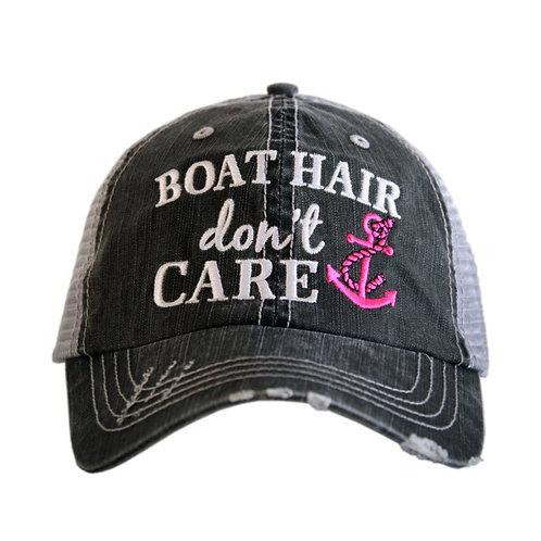 Boat Hair Don't Care Trucker Cap