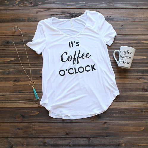 It's Coffee O'Clock- White