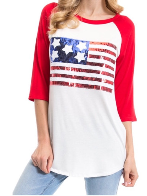 American Flag- Red
