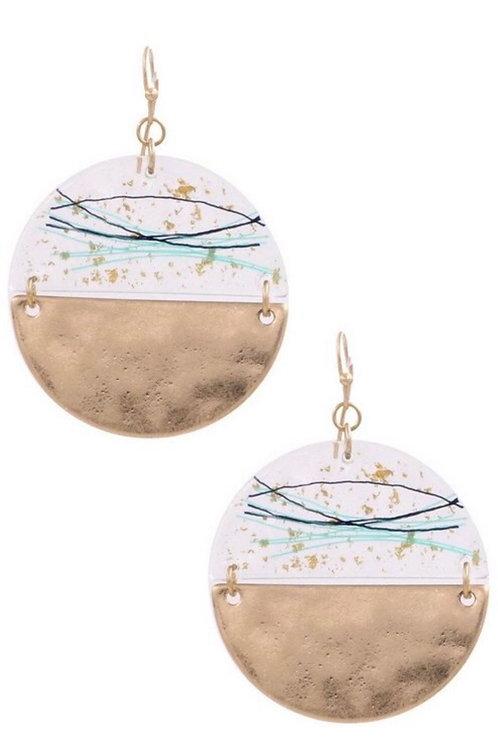Gold/Mint Earrings