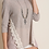 Thumbnail: UMGEE Crochet Trim Top- 3/4 Sleeve