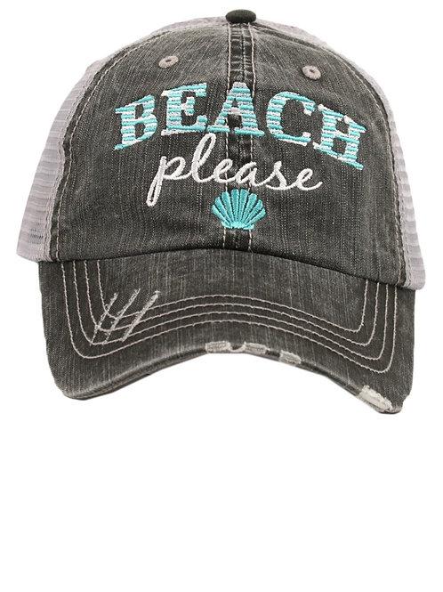 Beach Please Trucker Cap
