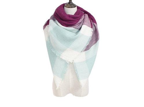 Purple/Mint Blanket Scarf