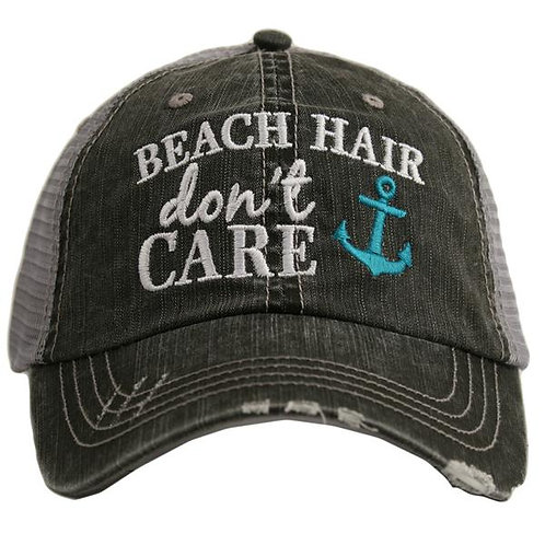 Beach Hair Don't Care Trucker Cap