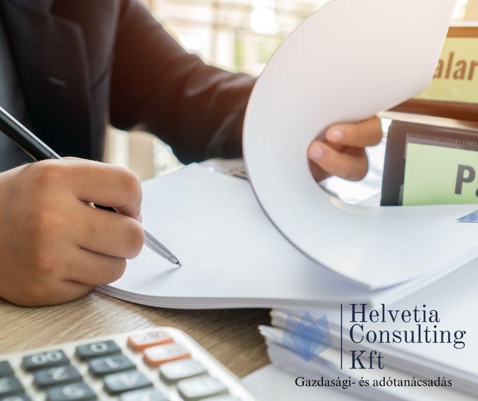 Kiszervezett, megbízható bérszámfejtés, Helvetia Consulting Kft.