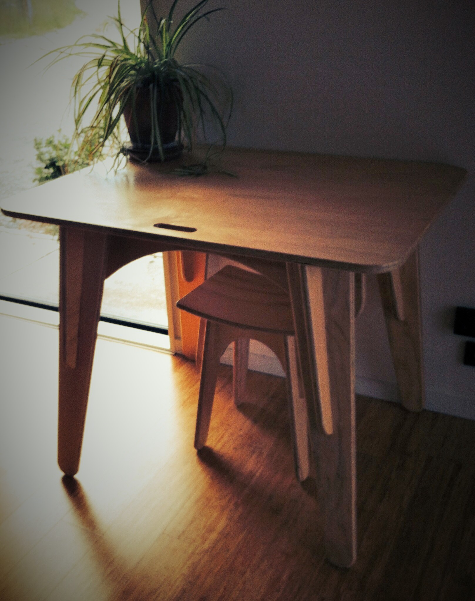 hand constructed desk