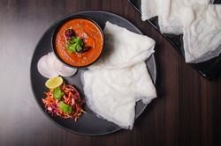 Malabar Curry with Neer dosa
