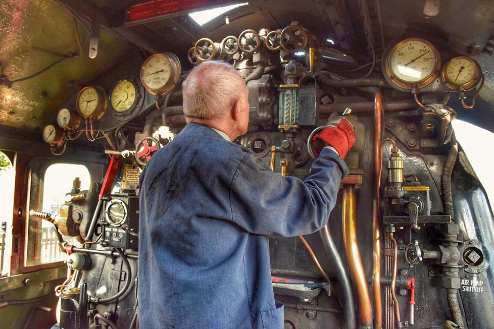 On the footplate of A4 60009 Union of So