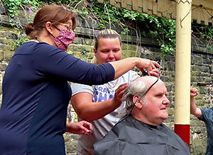 Kevin Owen braving the shave for McMillan Cancer