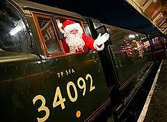 Santa rides on City of Wells