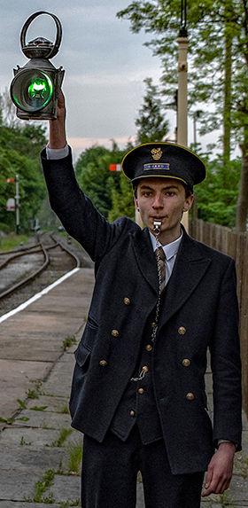 Volunteer guard and train dispatcher Liam Barnes