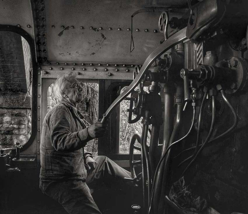 On the Footplate with Driver Garry Laxto