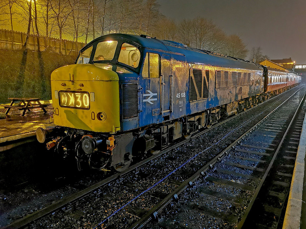 45108 having arrived at Bury in the pour