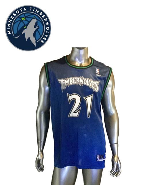 c91114d4a89 Vintage Kevin Garnett Minnesota Timberwolves Jersey