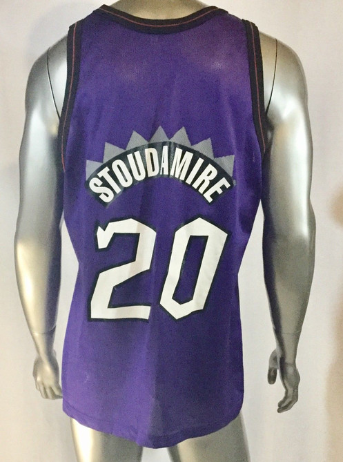583a474125e Vtg Rare NBA Toronto Raptors #20 Damon Stoudamire Champion Jersey ...